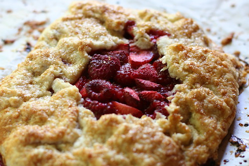 Strawberry Raspberry Galette