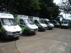 RX56MVH, RO52VST, RF02XHD, AG02AKJ & RY52BZW South East Coast Ambulance Service Mercedes Sprinter 416's & Renault Master Lm35 Ambulances at Chertsey Ambulance Station Make Ready Center, Surrey (Trojan631) Tags: las blue rescue west london public geotagged fire sussex mercedes coast volvo interesting brighton order traffic 4x4 south 911 police scout surrey ambulance led east explore nhs dna operations service roads met emergency incident firefighter paramedic 112 rapid metropolitan officer v50 scania 2012 2010 response armed 999 crawley evs fordfocus v70 sprinter so19 2011 constabulary policing arv rrv uvmodular wsfrs co19 secamb metpol so6 suspol esfrs trojan631