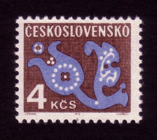 Ceskoslovensko 4k stamp (1972)