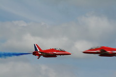 Red Arrows (mark_fr) Tags: show red stars all ride display britain air hurricane jet battle off airshow take arrows spitfire hunter pup turkish hawker sopwith 2010 sentinel waddington sentry nimrod provost junkers