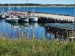 Cape St Mary harbour (tvordj) Tags: ocean docks boats novascotia piers 1234 annapolisvalley twothumbsup bigmomma friendlychallenges waterharbour fotocompetitionbronze yourock2nd pregamewinner