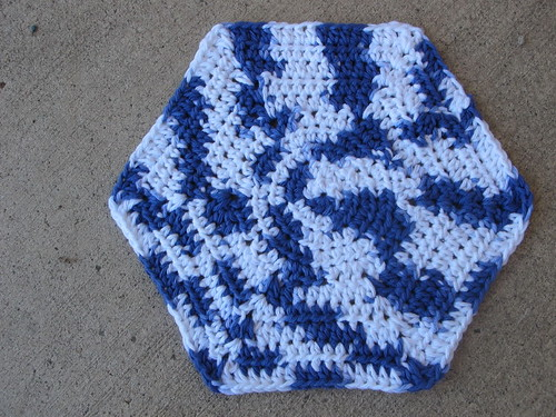 Venice Beach Hexagon Washcloth