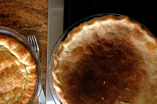 burned pie crust