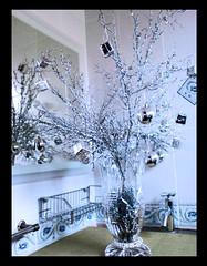 My xmas tree 2009 (Art Fountain) Tags: xmas white tree glass silver mirror tiles vase tap