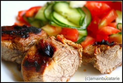Articole culinare : Porc marinat in sos de ardei iute si usturoi