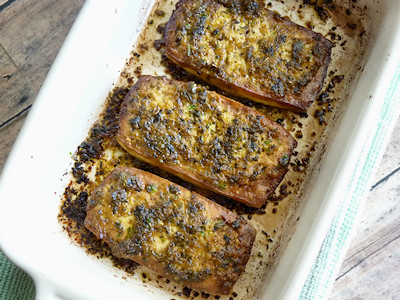 Viva Vegan - Chimichurri Baked Tofu