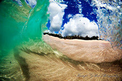 Liquid Lens ( KristoforG) Tags: blue sky green beach water clouds hawaii sand aqua surf with place no name under tube cyan clarity sandbar wave clear mysterious custom liquid waterproof gellert kristofor toob waterhousing