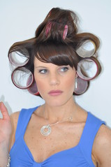 Ponder (nils.rohwer) Tags: woman girl hair rollers highlight