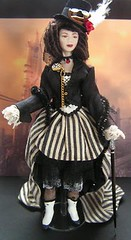Steampunk Lady by Mary Williams  http://www.dollshousedolls.co.uk