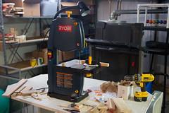 wood table saw basement shelving shelves lumber treadmill drill bandsaw ryobi dewalt cordlessdrill newtonscradle screwshooter