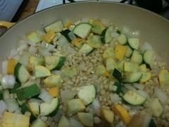 Zucchini and corn browning