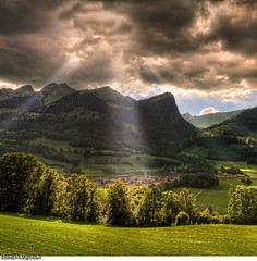 Hope Village (Jamal Alayoubi) Tags: cloud mountain landscape switzerland nikon ray village jamal alayoubi albuve