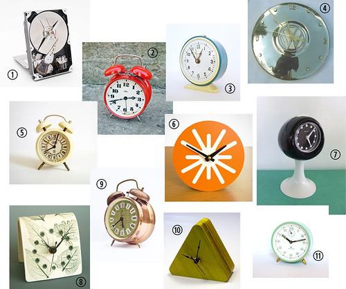 fave clocks on etsy