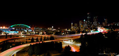 Seattle by Night (mj.foto) Tags: seattle longexposure panorama bulb night washington nikon downtown chinatown i5 wideangle freeway interstate 24mm nikkor i90 seatown d700 garbongbisaya drjoseprizalbridge