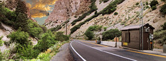 usfs fee station in af canyon panorama (houstonryan) Tags: road panorama art station forest print landscape photography utah nikon loop ryan united houston fork canyon alpine photograph american service states fee usfs d300s houstonryan