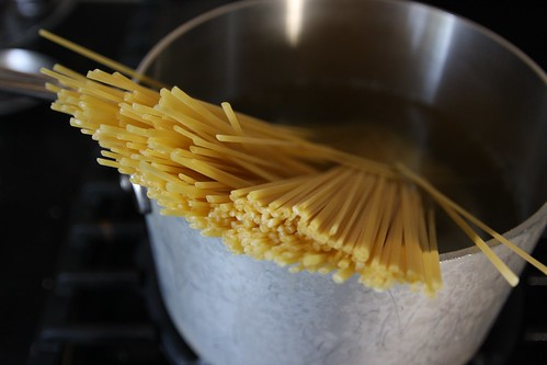 pasta boiling