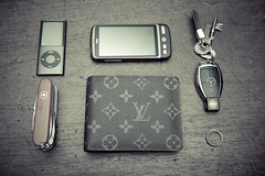 Appropriation (snapshotaesthetic) Tags: army louis wallet monogram swiss knife 4th canvas mercedesbenz pocket nano generation vuitton louisvuitton victorinox in florin monogramcanvas swisschamp victorinoxswissarmyswisschamppocketknife louisvuittonflorinwalletinmonogramcanvas florinwallet keymercedesbenz keyringipod nano4thgenerationipod