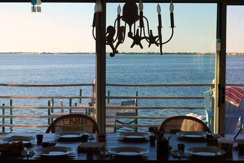 dinner table + favorite view.