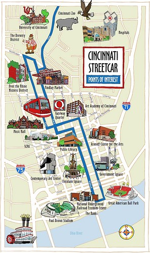 Cincy's streetcar route (by: Cincy Streetcar)