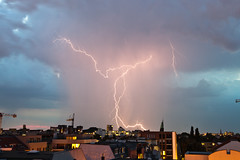 [Free Image] Nature/Landscape, Lightning/Thunderbolt, Germany, 201007140100
