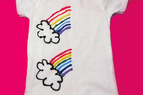 paint half a rainbow