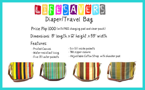 lifesavers diaper travel bag poster