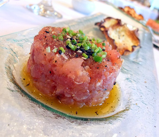 Tuna Tartar with Fried Turnip Chips