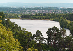 Reservoir, Milngavie and Glasgow from Mugdock (1875Brian) Tags: scotland scenery glasgow milngavie mugdock