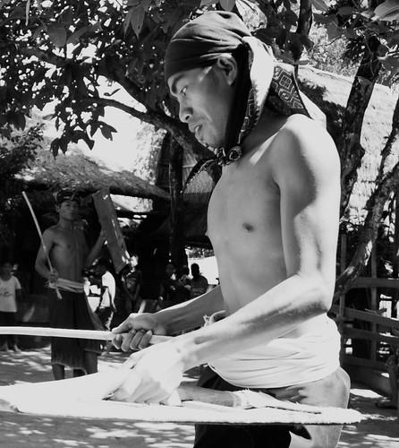 Pain.  Peresean / Stick Fighting ~ Pujut Village. Lombok, Indonesia 2010