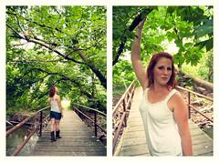 Stephie (Mara Magyarosi) Tags: portrait woods mara waldon beaverdam stephie cowboyboots jeanshorts whitetop magyarosi maramagyarosi stephaniewaldon stephiewaldon