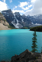 Moraine Lake, Banff National Park (mcdanielism) Tags: travel vacation holiday canada britishcolumbia explore northamerica exploration canadians banffnationalpark morainelake morrainelake