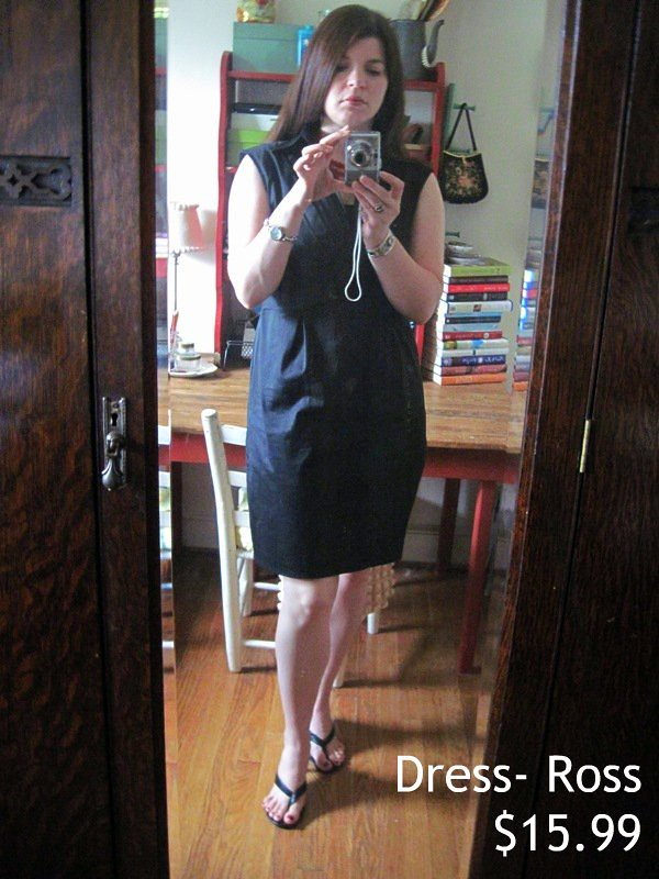 What I Wore- Black Ross Dress