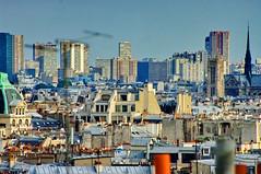 Paris vu depuis une terrasse rue de la Tour d'Auvergne dans le 9ième arrondissement 7 (paspog) Tags: paris france roofs toits decken vudenhaut