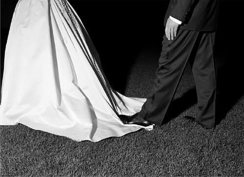 Geof Kern, Foot on a Bride's Dress, 2004