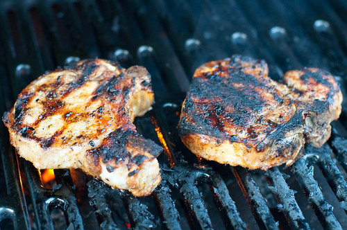 "Brined grilled pork ""chops"""
