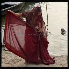 With Every Dawn (designldg) Tags: people woman india water beauty silver gold emotion silk atmosphere grace human fabric elder varanasi saree kashi sari contrejour backlighting ganga ganges benares benaras garment femininity uttarpradesh  anawesomeshot