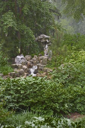 """Missouri Botanical Garden (""""Shaw's Garden""""), in Saint Louis, Missouri, USA - waterfall in Chinese Garden"""
