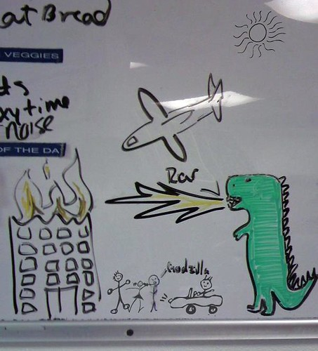 Godzilla attacks