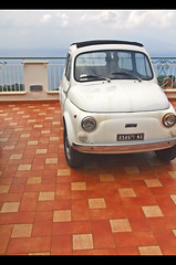 Fiat Friday (robert_goulet) Tags: old italy cute heritage rooftop car digital tile italia campania fiat may mini olympus micro vehicle motor 500 sorrento zuiko 2010 ep1 m43 zd fourthirds 1454mm ilnido mikecrough