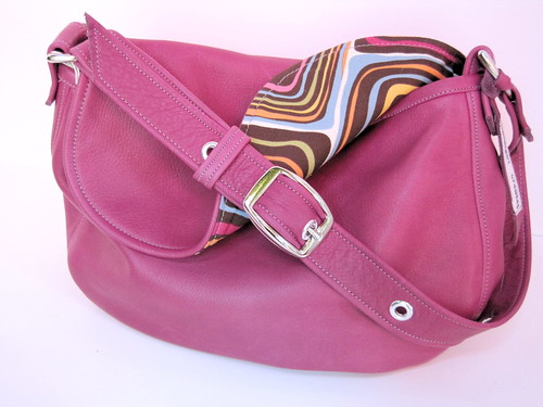 berry leather perfect bag