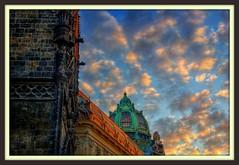 Powder Tower and Municipal House, Prague, Czech Republic 5:30 am HDR