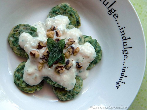Ravioli Gnudi with Sage Walnut Sauce