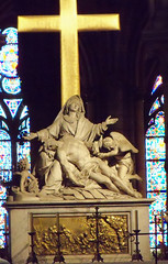 Notre Dame Cathedral - Altar (cmiller237) Tags: paris cross cathedral mary jesus notredame altar angels goldcross