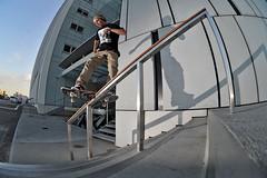 Morten Klingse (Trivial Dependence) Tags: copenhagen denmark skateboarding board rail slide skate fs 16mm28 nikond700 pierrestachurska mortenklingse