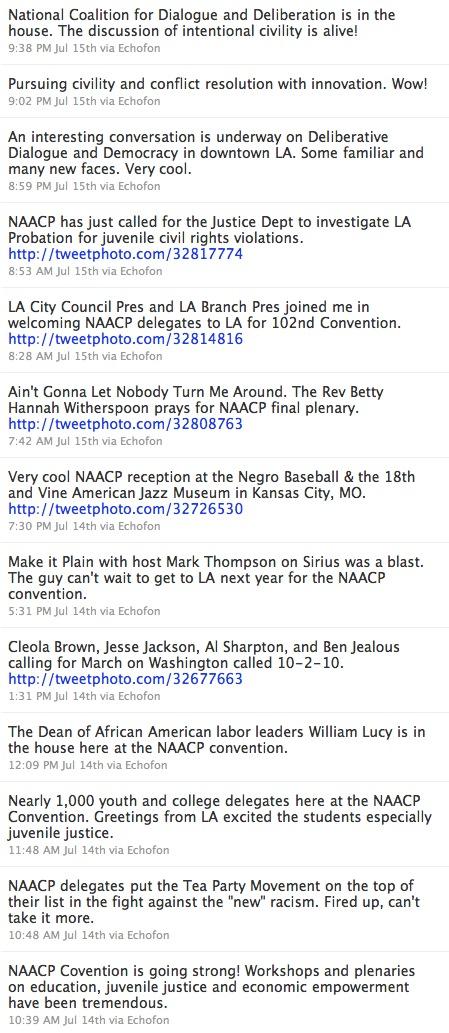 NAACP Tweets