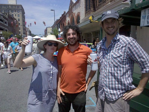 Claire, Blair, Zach and delicious Molson beer at Artscape in Baltimore