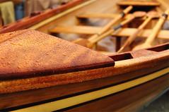 Rain oar Shine (dlholt) Tags: seattle wood boat dof bokeh depthoffield rowboat lakeunion craftsmanship oars woodboat
