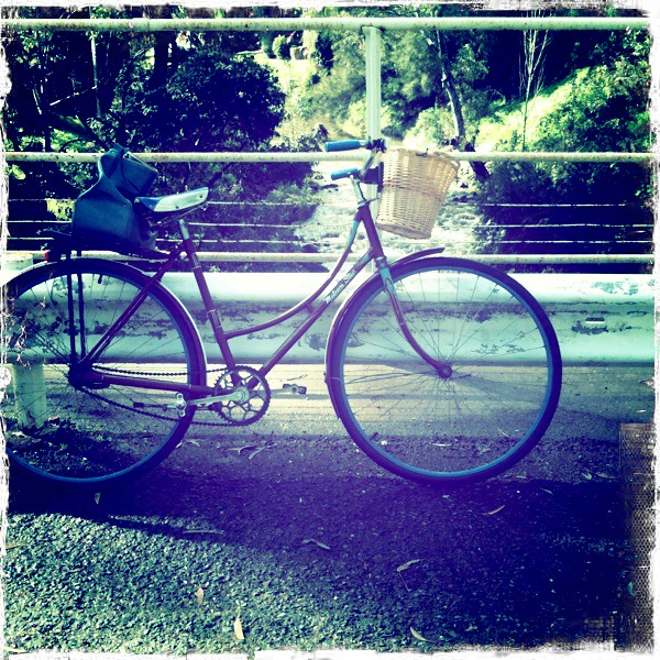 Riding to work....