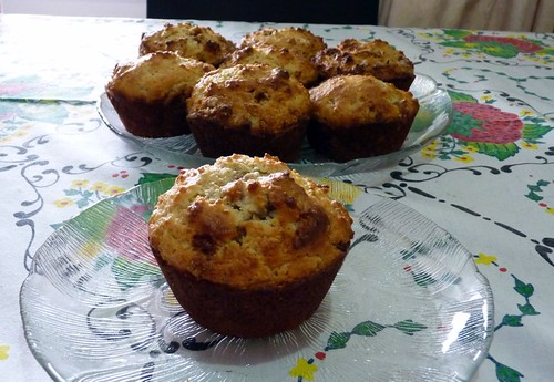 Fig Pistachio and Ginger Muffins