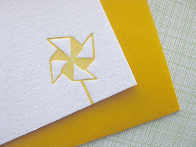 pinwheel note card upclose
